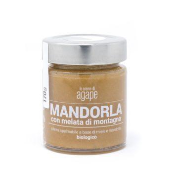 Crema di Mandorle con Miele di Melata di Montagna Biologica 170g